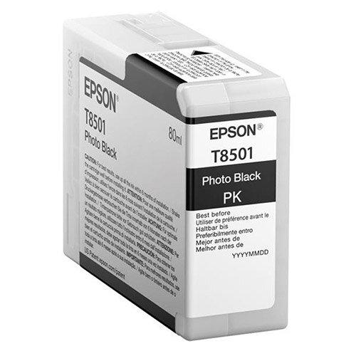 Epson T8501 (80ml) UltraChrome HD Photo Black Ink Cartridge for SureColor SC-P800 Photo Printer C13T850100