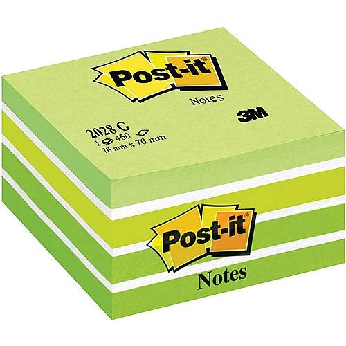 Post-it  76 x 76mm  Sticky Notes Cube Neon Assorted Colours  1 x 450 Sheets