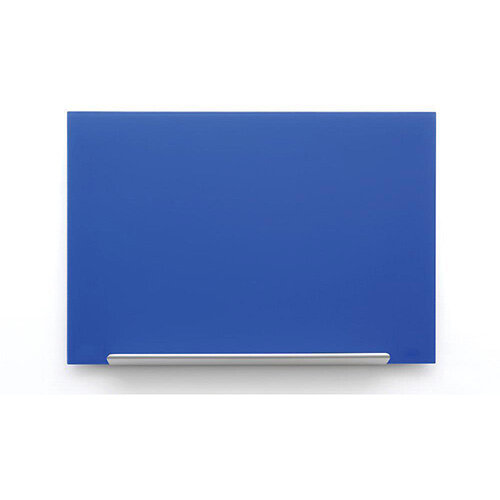 Nobo Diamond Glass Board Magnetic Scratch Resistant Fixings Included W1883xH1053mm Blue Ref 1905190