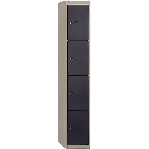 Bisley Steel Locker 457mm Deep 4 Door Grey & Blue