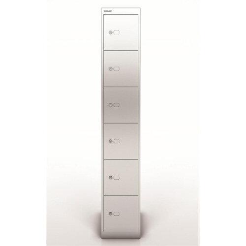Bisley Steel Locker 457 Six Door Silver