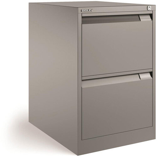 Bisley Premium Filing Cabinet Two Drawer BS2E Silver