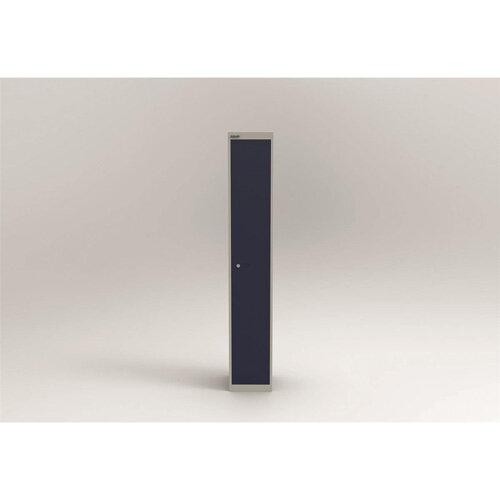 Bisley Steel Locker 305mm Deep 1 Door Grey &Blue
