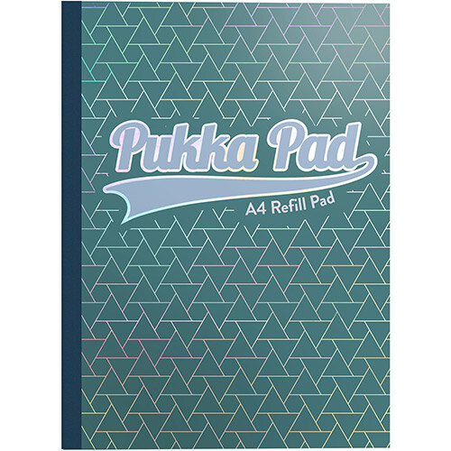 Pukka GLEE Refill Pad 400Pg 80gsm Sidebound A4 Green Ref 8892GLE Pack of 5