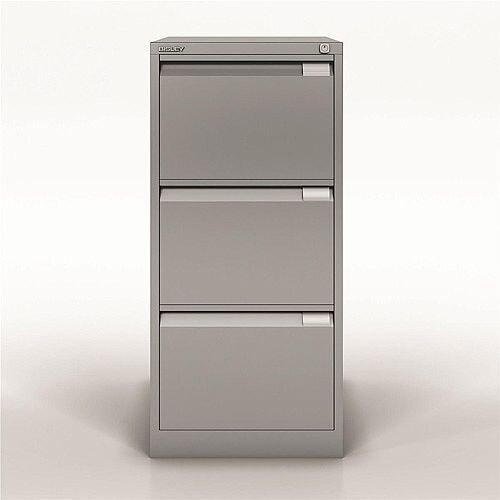 Bisley Premium Filing Cabinet Three Drawer BS3E Silver