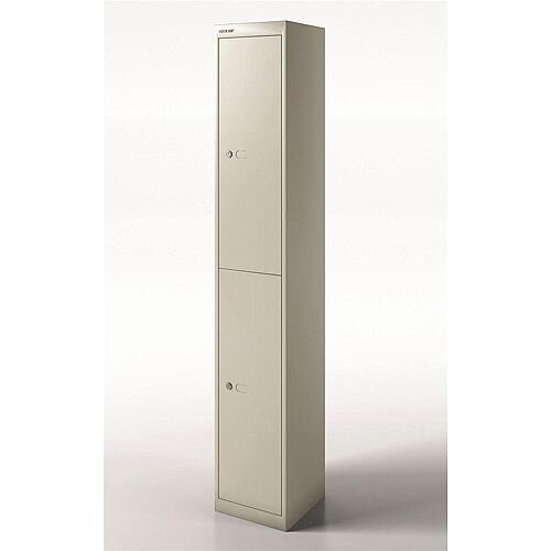 Bisley Steel Locker 305mm Deep 2 Door Goose Grey