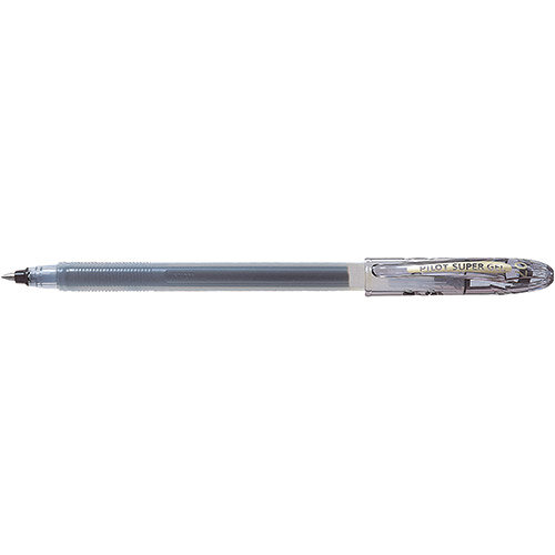 Pilot SuperGel Ink Rollerball Pen 0.7mm Tip Black Ref 4902505243769 Pack of 12