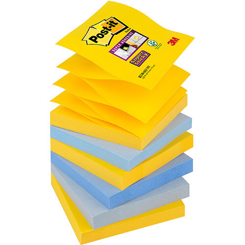 Post-it Super Sticky Z-Notes New York 76x76mm Ref R330-6SS-NY Pack of 6