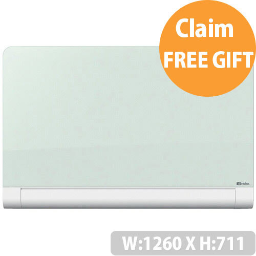 Nobo Diamond 1260x711mm Glass Magnetic Whiteboard with Rounded Corners and Fixings Included