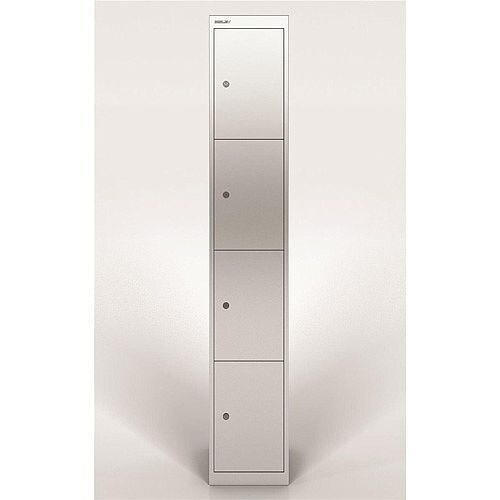 Bisley Steel Locker 305 Four Door Silver