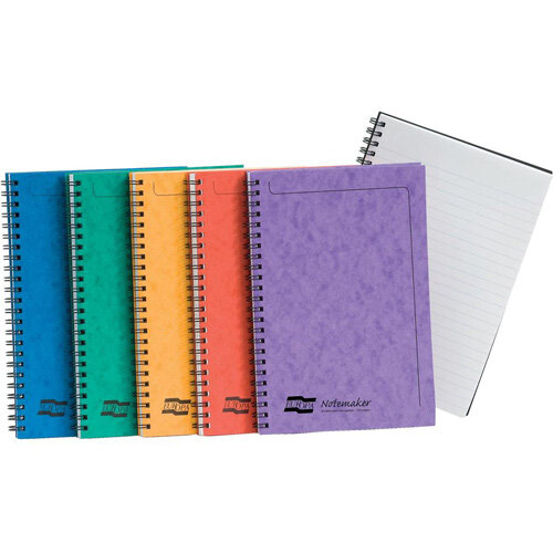 Europa A5 Twinwire Sidebound 90g/m2 120 Page Micro Perforated Notebook 1 x Pack of 10 Assorted Notebooks