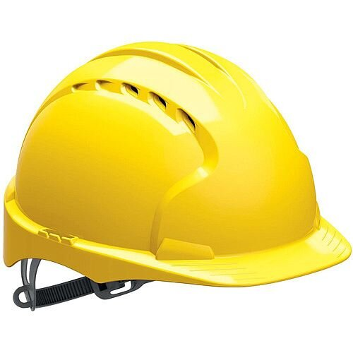 JSP EVO2 Vented Safety Helmet with Slip Ratchet Yellow