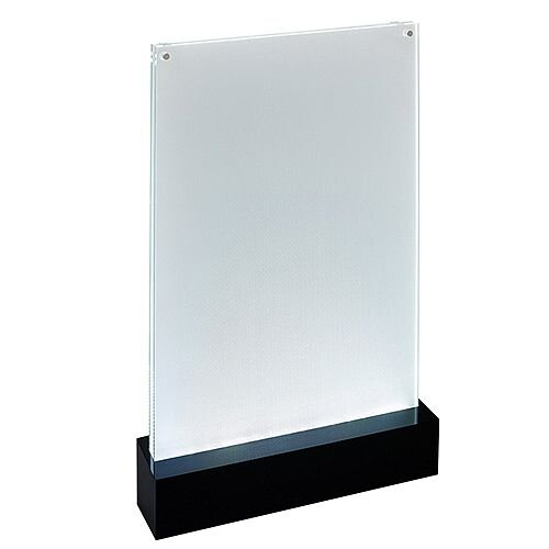 Sigel Table-top Display Frame LED Double-sided Luminous A4 Clear ...