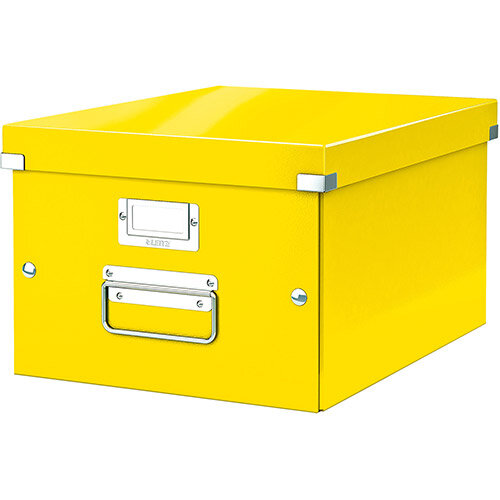 Leitz Click &Store Collapsible Storage Box Medium For A4 Yellow Ref 60440054