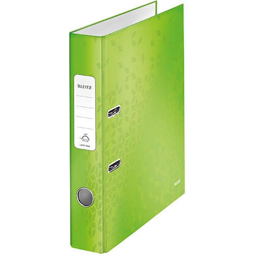 Leitz WOW Lever Arch File 80mm Spine for 600 Sheets A4 Green Ref 10050054 Pack of 10(REDEMPTION) Jan-Mar20