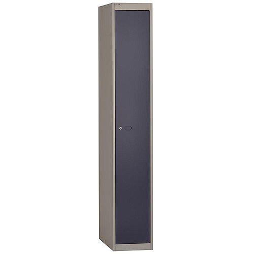 Bisley Steel Locker 457mm Deep 1 Door Grey &Blue