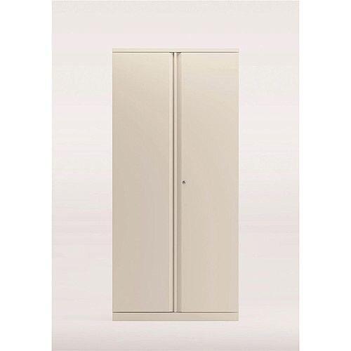 Bisley Two Door Steel Storage Cupboard High 1970mm Cupboard White