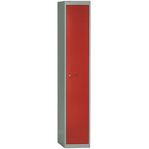 Bisley Steel Locker 457mm Deep 1 Door Grey & Red