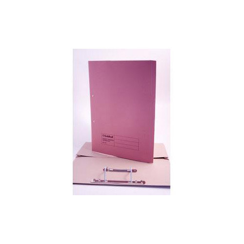 Guildhall Foolscap 420g/m2 35mm Spine Super Heavyweight Manilla Pocket Spiral File Pink