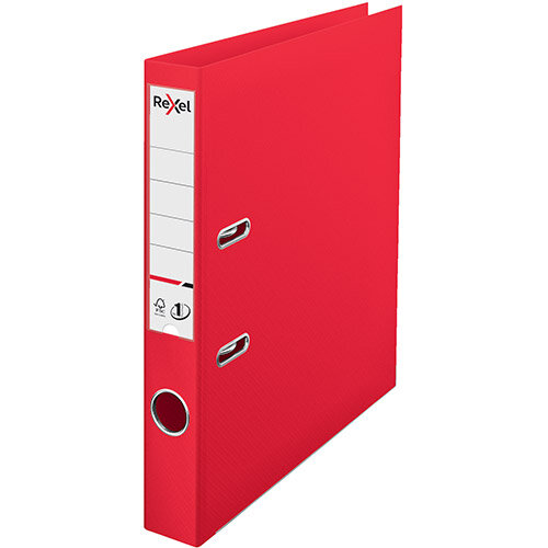 Rexel Choices Lever Arch File PP 50mm A4 Red Pack of 10 Ref 2115508