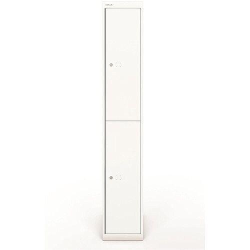 Bisley Steel Locker 457 Two Door Chalk White