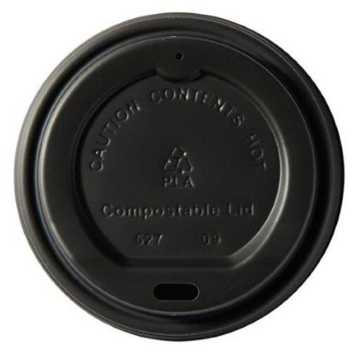 Dispo Kraft Disposable Hot Cup 8oz PLA Plastic Compostable Bio-Gradable Lids Ref 44885 Pack of 50