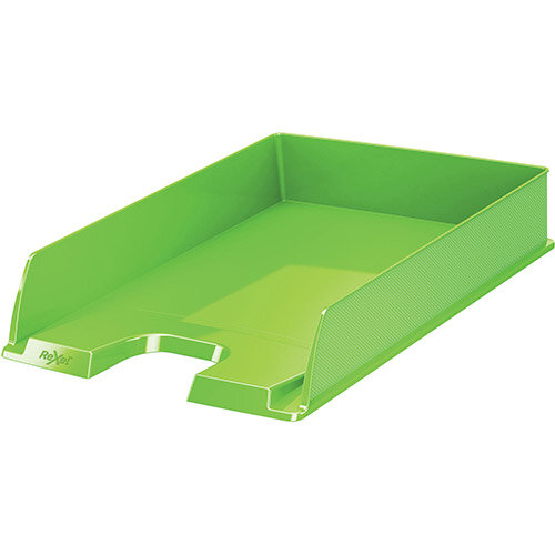Rexel Choices Letter Tray PP A4 254x350x61mm Green Pack of 10 Ref 2115600
