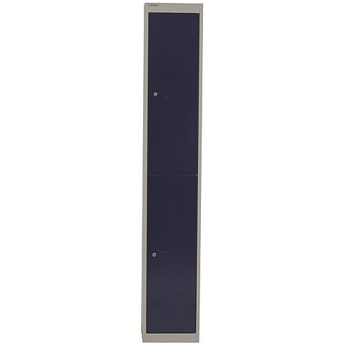 Bisley Steel Locker 457mm Deep 2 Door Grey &Blue