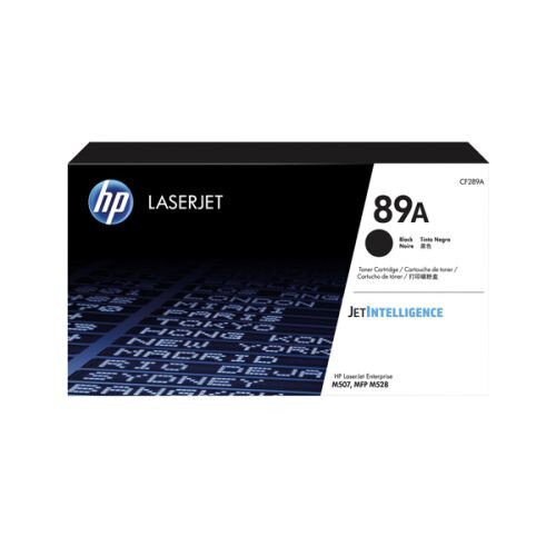 HP 89A - Black - original - LaserJet - toner cartridge (CF289A) - for LaserJet Enterprise M507, MFP M528; LaserJet Enterprise Flow MFP M528