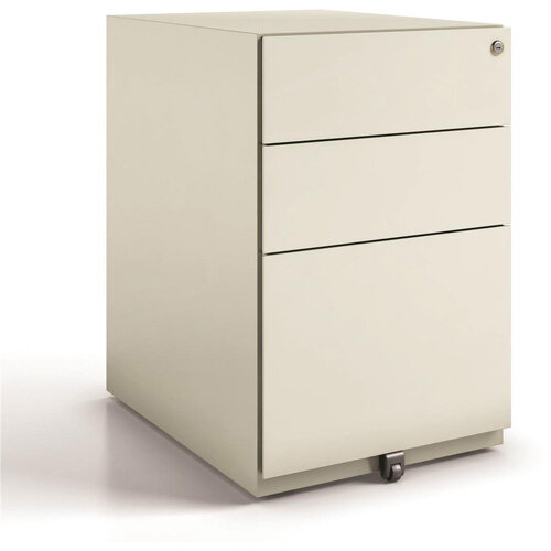 Tall Mobile Steel Pedestal Under Desk 3 Drawer 2 Stationery &1 Filing Goose Grey Ref NWA52M7SSF-av4