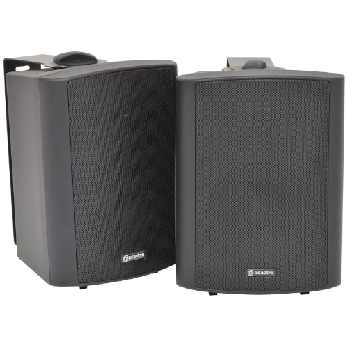 "Adastra 170.166 - Stereo Active Speakers Set - 5.25"" Driver - 2x30W RMS Power - Wallmount or Standalone - LED Indicator - RCA Plug - Mounting Brackets Included"