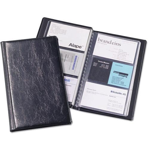 Visifix Business Card Album Fixed Welded Pockets Capacity 72 Dark Blue Ref 2400/01