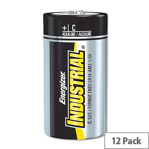 Energizer Industrial Size C Batteries Long Life 1.5V C (12 Pack)