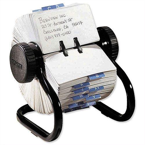 Rolodex Black Classic 500 Rotary File Metal 66704
