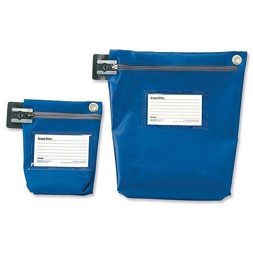 Versapak Medium Cash Bag Tamper-Evident Zip Heavyweight Material Blue