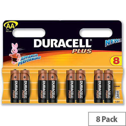 Duracell Plus AA Alkaline 1.5V Battery (8 Pack) 81275377