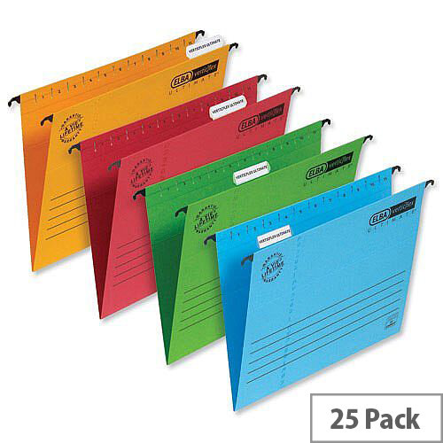 Elba Verticflex Blue Suspension File Foolscap 240gsm L901200 Pack 25