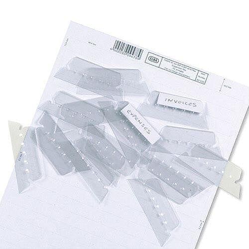 Plastic Tabs for Elba Ultimate Vertic Flex Suspension Files L140030 Pack 25