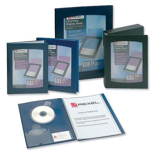 Rexel Clearview 24 Pocket Display Book A4 Black 10320BK