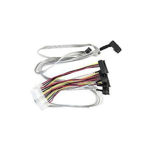 PMC Microsemi Adaptec Mini-SAS HD/SAS Data Transfer Cable for Hard Drive 80 cm 1 x SFF-8643 Mini-SAS HD 4 x SAS Fan-out Cable 2279600-R