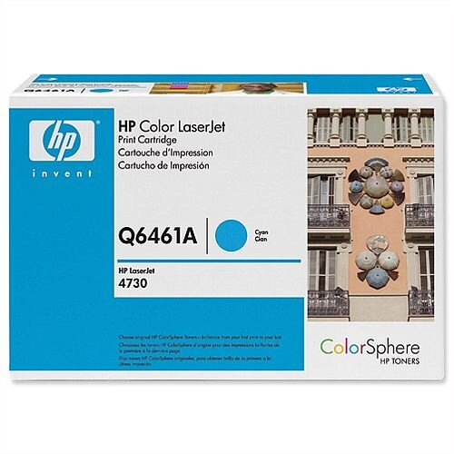 HP 644A Cyan LaserJet Toner Cartridge Q6461A
