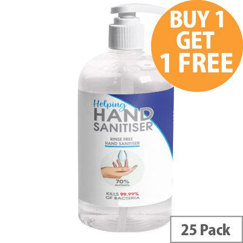 250ml Pump Hand Sanitiser - Fully Approved Ethanol Based Sanitising Liquid PCS 100380 Pack of 25