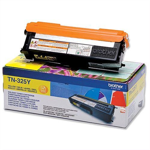 Brother TN-325Y Yellow High Capacity Laser Toner Cartridge TN325Y
