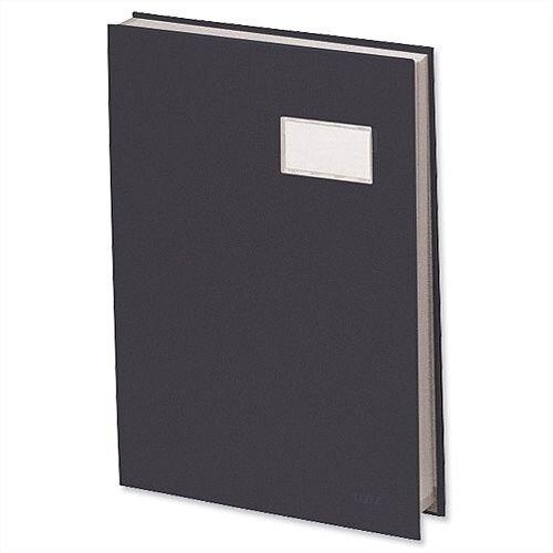 Visitors Signature Book Black 20 Compartments Durable Blotting Card 340 x 240mm