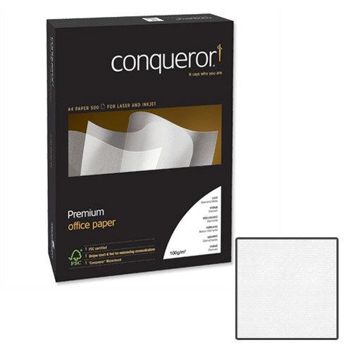 Conqueror Laid Texture Brilliant White Premium Paper A4 100gsm 500 Sheets
