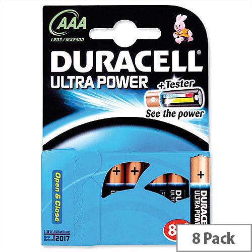 Duracell Ultra Power AAA Alkaline 1.5V Batteries (8 Pack) 15071690