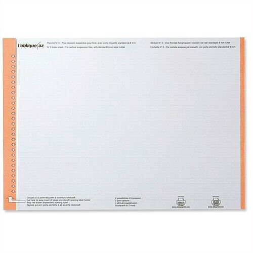 Card Inserts for Elba Ultimate AZO Suspension Files L120700 Pack 10x25