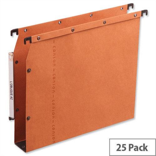 Elba Ultimate AZV Lateral File 330mm Wide Base 30mm Orange Ref L500002 [Pack 25]