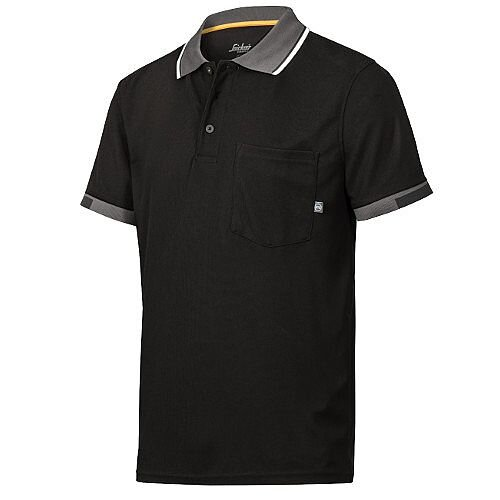 Snickers 2724 AllroundWork 37.5 Technology Short Sleeve Polo Shirt WW4 Black