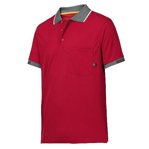 Snickers 2724 AllroundWork 37.5 Technology Short Sleeve Polo Shirt WW4 Red